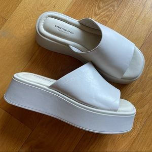 Vagabond Courtney Slip In Sandals Off White 36